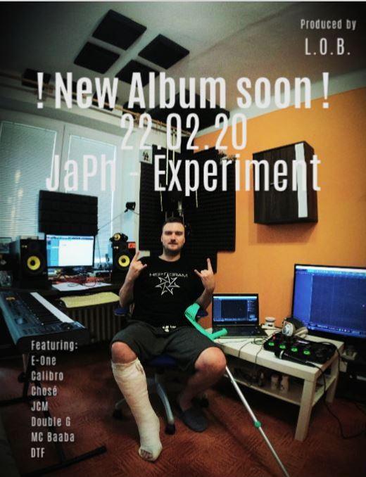 Nové album JaPh – Experiment JIŽ BRZY!